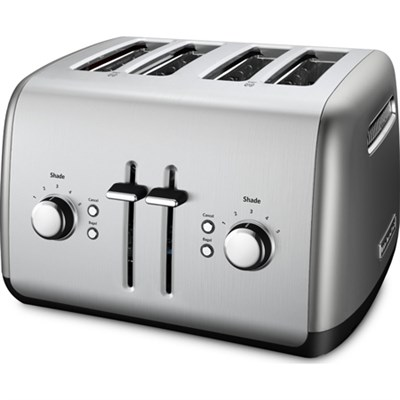 4-Slice Toaster with Manual High-Lift Lever in Contour Silver - KMT4115CU