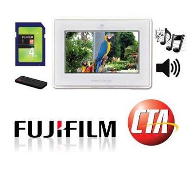 7-inch Digital Picture Frame & MP3 Player w/ Stereo Speakers & 4GB Memory card!