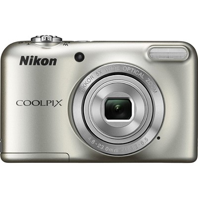 COOLPIX L29 16.1 MP Digital Camera with 5x Optical Zoom Silver - Refurbished