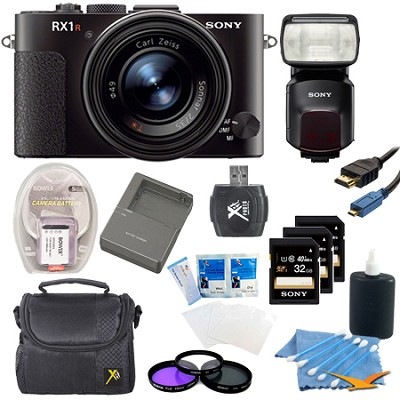 RX1R 24MP Cyber-Shot Full-frame 24.3MP Digital Camera Kit with HVLF60M Flash