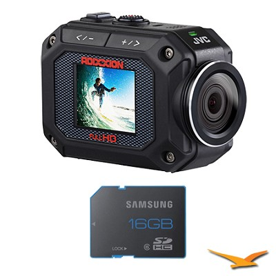 GC-XA2 ADIXXION Full HD Action Camera w/ Waterproof, Shockproof 16GB Memory Card
