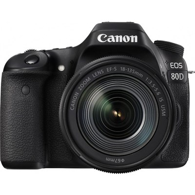 EOS 80D 24.2 MP CMOS Digital SLR Camera w/ EF-S 18-135mm f/3.5-5.6 IS USM Lens
