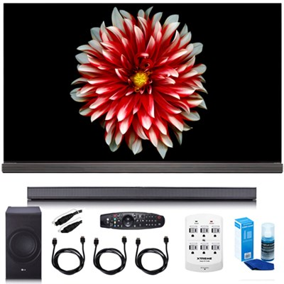 65` Signature OLED 4K HDR Smart TV OLED65G7P w/LG SJ8 Sound Bar Bundle