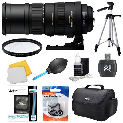 150-500mm F/5-6.3 APO DG OS HSM Autofocus Lens For Sony - Lens Kit Bundle