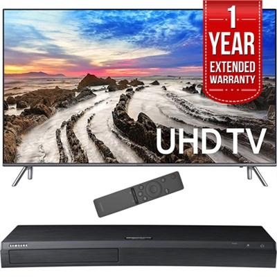 64.5` 4K Ultra HD Smart LED TV 2017 Model with Blu-Ray+Warranty Bundle