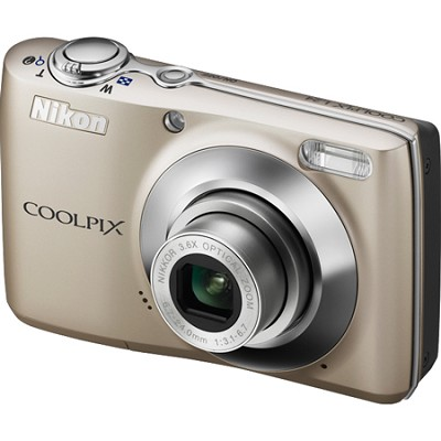 COOLPIX L24 14 MP Digital Camera with 3.6x NIKKOR Optical Zoom Lens Silver