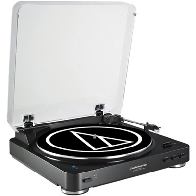 AT-LP60BK-USB Fully Automatic Belt-Drive Stereo Turntable Certified Refurbished