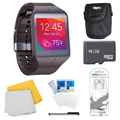 Gear 2 Neo Grey Watch, Case, and 16GB Card Bundle