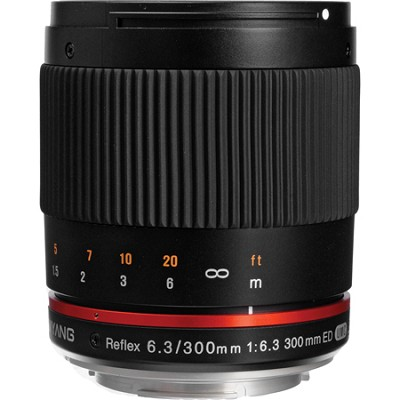 300mm F6.3 Mirror Lens for Micro 4/3 - Black