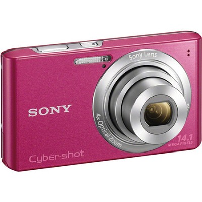 Cyber-Shot DSC-W610 Pink 14.1 MP Compact Digital Camera - OPEN BOX