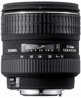 Super Wide Angle Zoom 17-35mm f/2.8-4.0 EX DG Aspherical HSM AF Lens for Nikon