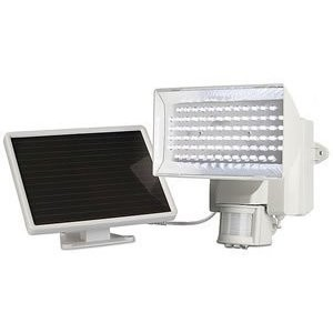 40225 Solar-Powered Motion-Activated 80 LED Security Floodlight, Off-White
