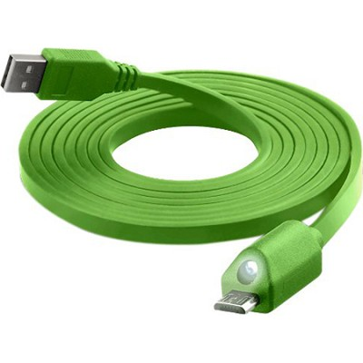 LED Lighted Micro Sync and Charge Cable in Green