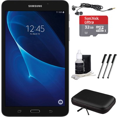 Galaxy Tab A Lite 7.0` 8GB Tablet PC (Wi-Fi) Black, 32GB Card, and Case Bundle