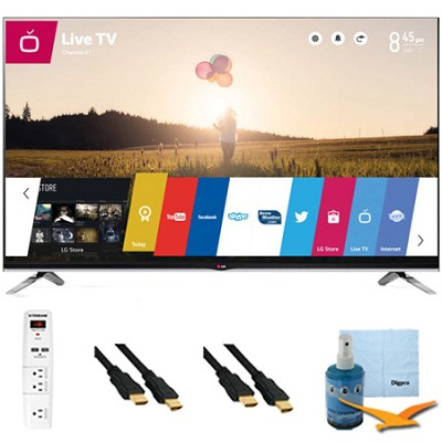 55` 1080p 240Hz 3D LED Smart HDTV with WebOS Plus Hook-Up Bundle (55LB7200)