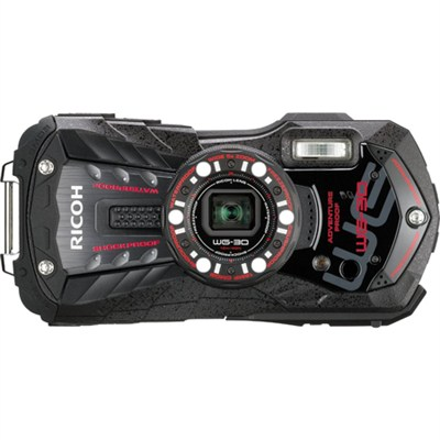 WG-30 16 MP Waterproof Digital Camera with 3-Inch LCD - Ebony Black - OPEN BOX