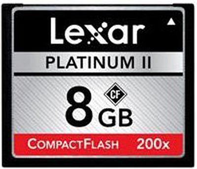 Platinum II 8 GB 200x CompactFlash Memory Card LCF8GBBSBNA200