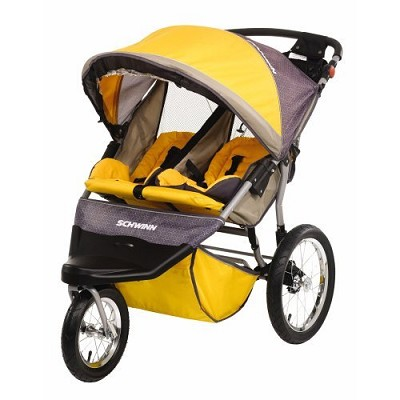 Free Wheeler ST Double Jogging Stroller (Gold Gray) - OPEN BOX