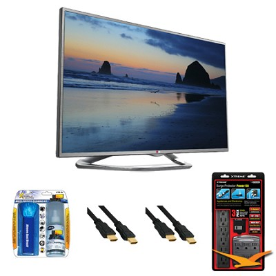 60LN6150 60-Inch 1080p 120Hz LED-LCD HDTV with Smart TV Value Bundle