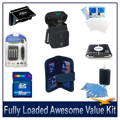Loaded Awesome Value Kit for Fujifilm S2950, S4200, S4500 & CANON SX160