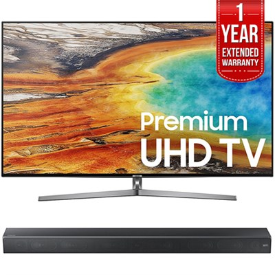 55` 4K UHD Smart LED TV w/ Sound+ Premium Soundbar + Extended Warranty