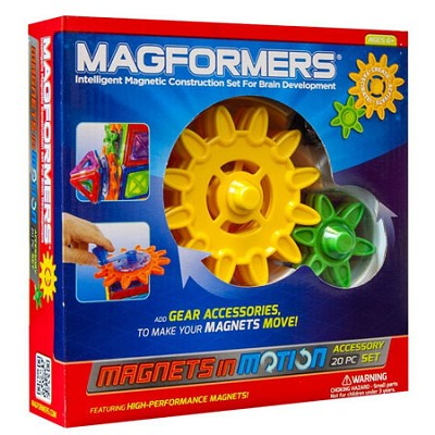 63201 Magnets in Motion 20pc Magnetic Construction Accessory Set