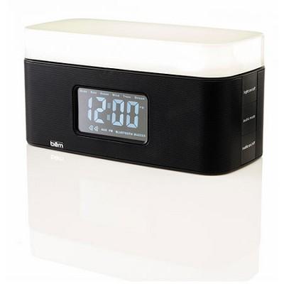 Sunrise Bedside Speaker Clock with Light (Black) - BEMSCB