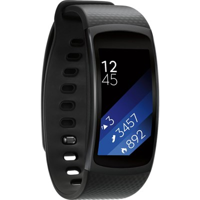 SM-R3600DAAXAR Gear Fit2 Smartwatch w/Large Band - Black - OPEN BOX