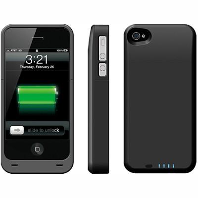 Power DX PLUS External Protective Battery Case - iPhone 4S & 4 (Black) 2400MAH