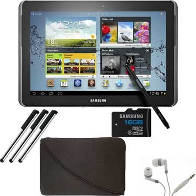 10.1` Galaxy Note 16GB Tablet + 16GB Micro SD and Essentials Bundle