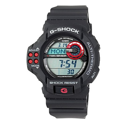 GDF100-1A G-Shock Twin Sensor Multi-Functional Black Resin Digital Sport Watch