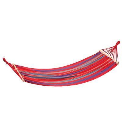 `Bahamas` Single Cotton Hammock in Red - 30800-60
