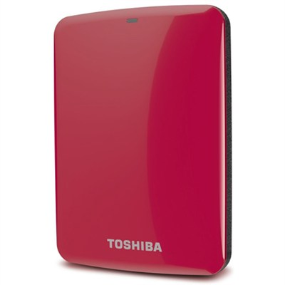 Canvio Connect 500GB Portable Hard Drive, Red (HDTC705XR3A1)