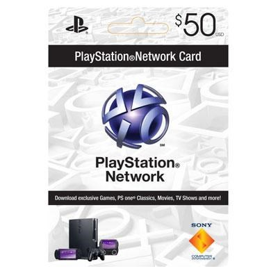 PSN 50 dollar live card