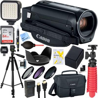 VIXIA HF R82 Camcorder 3.8MP, 57x Advanced Zoom + 64GB Deluxe Accessory Bundle