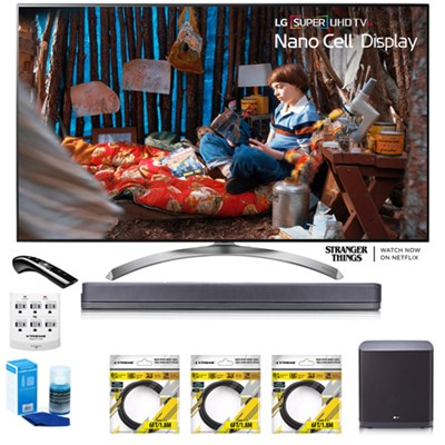 SUPER UHD 65` 4K HDR Smart LED TV 65SJ8500 w/LG SJ9 Hi-Res Sound Bar Bundle