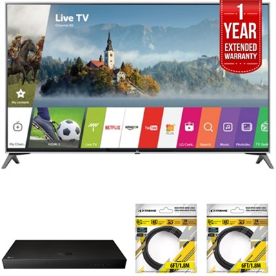 65` UHD 4K HDR Smart LED TV 2017 Model with Warranty + Blu Ray Bundle