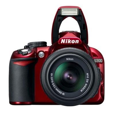 D3100 14.2MP / 1080P Red Digital SLR Camera with 18-55mm VR Lens - Refurbished
