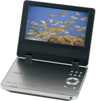 SD-P1750 - Portable DVD Player w/ 7` Widescreen LCD
