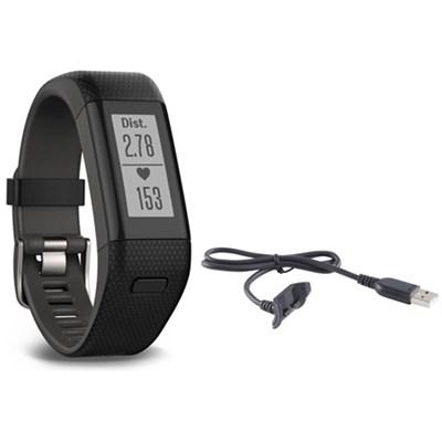 Vivosmart HR+ Activity Tracker Bundle, Regular Fit with Charging Cable (Black)