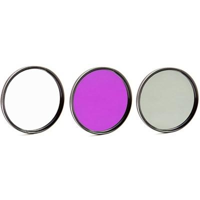 55mm 3 Piece Pro Level Lens Filter Kit - UV, FLD, Polarizer - FK55MM