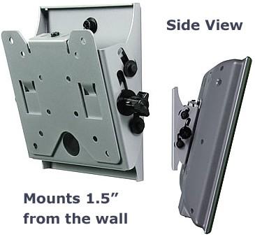 Flat + Tilt Smart Mount  for 10` to 24` LCDs (Silver) - OPEN BOX