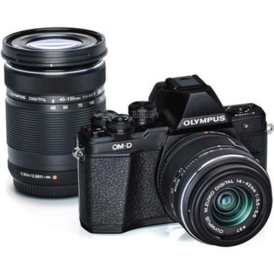 OM-D E-M10 Mark II Mirrorless Digital Camera Two Lens Kit (Black) - OPEN BOX