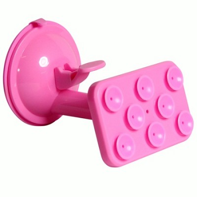 Windshield Suction Mount for Smartphones, GPS, Tablets - Pink