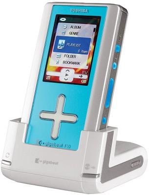 MEG-F10L 10 GB gigabeat Player - Aqua Blue Acrylic-(special last Item)