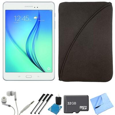 Galaxy Tab A 9.7-Inch Tablet (16 GB, White) 32GB Memory Card Bundle