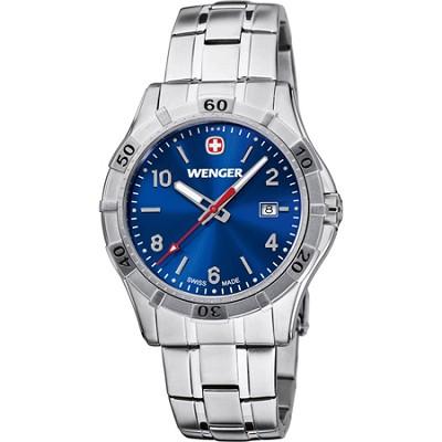 Men's Platoon Analog Watch - Blue Dial/Stainless Steel Bracelet