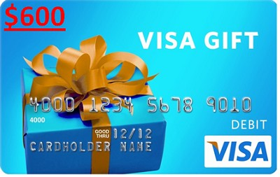 $600 Gift Card (Allow 6-8 weeks for delivery)