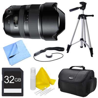 A012 SP 15-30mm F/2.8 Ultra-Wide Angle Zoom Di VC USD Lens for Canon Bundle