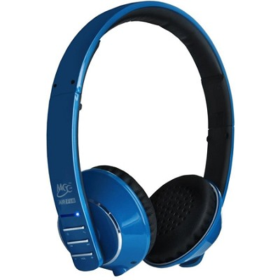 Air-Fi Runaway AF32 Stereo Bluetooth Wireless Headphones w/ Hidden Mic. (Blue)